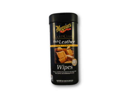 Meguiar's Gold Class Rich Leather Cleaner & Conditioner Wipes 25 Stück