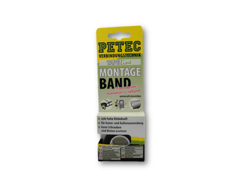 Petec Power Montageband SB transparent 2 m